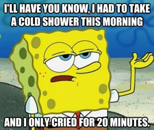 spongebob cold shower